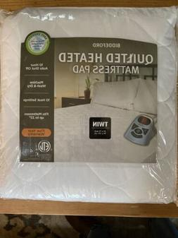 Biddeford QUILTED TWIN Heated Mattress Pad with Controller ~