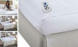 Serta | Silky Smooth Plush Velour Electric Heated Mattress P