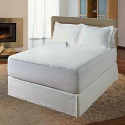 Serta Sherpa Plush Electric Heated Mattress Pad with Program