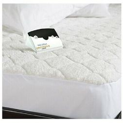 Biddeford Blankets Sherpa Quilted Mattress Pad with Skirt