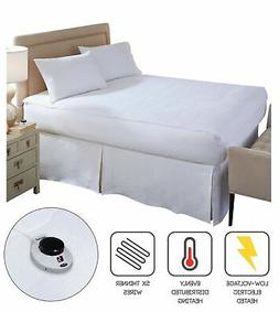 Soft Heat Micro-Plush Top Low-Voltage Electric Heated Queen