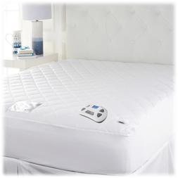 Perfect Fit TempaCool Cool Touch Heated Mattress Pad Fits Up