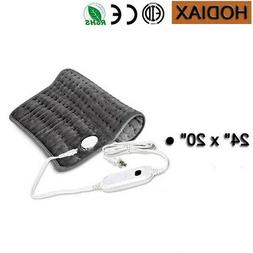 Twin Size Electric Heated Pad Easy Set Double Controlled War