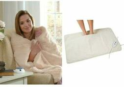 Serta | Ultra Soft Plush Electric Heated Warming Pad for Fee