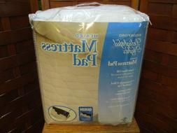 Biddeford White Quilted Queen Heated Mattress Pad Dual Contr